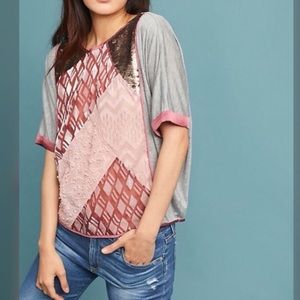 Tiny by Anthropologie Patchwork Top F0316
